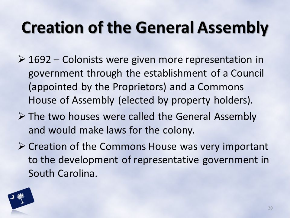 Creation of the General Assembly