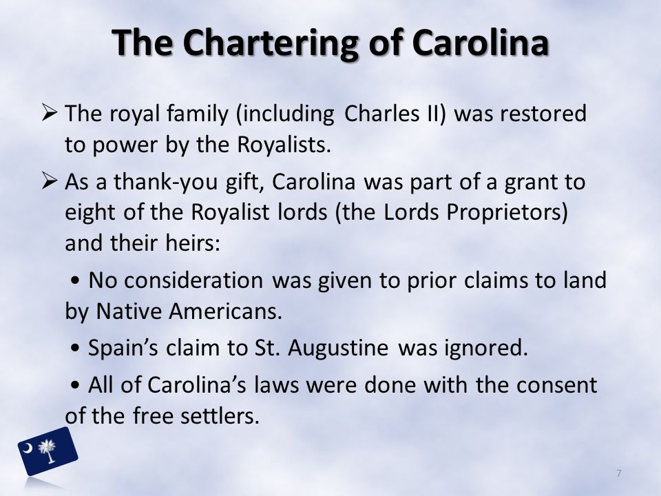 The Chartering of Carolina