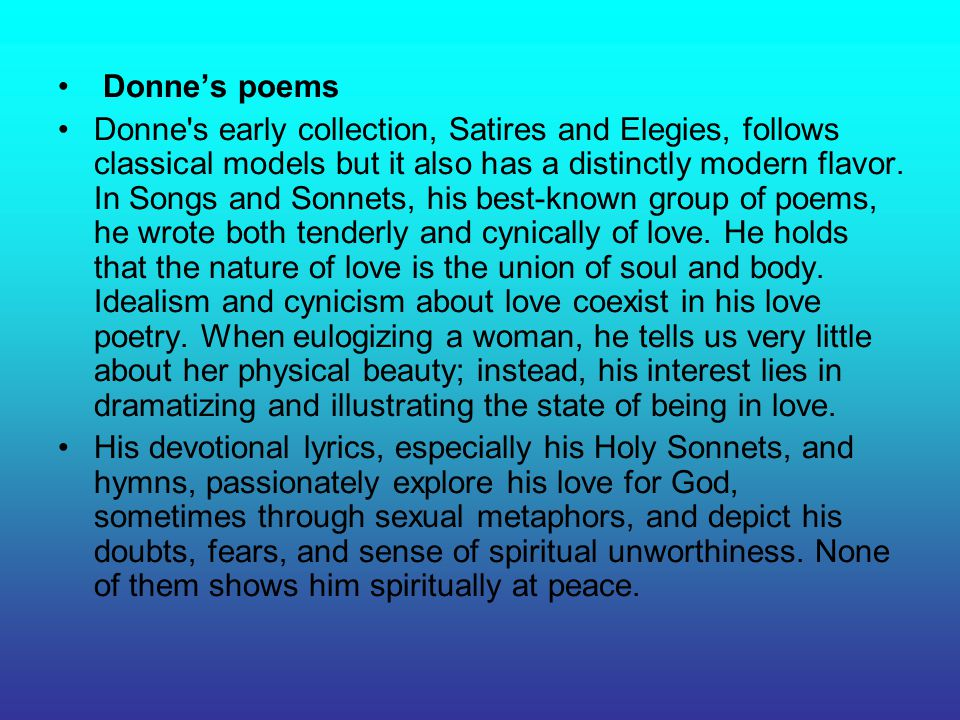 Donne's poems