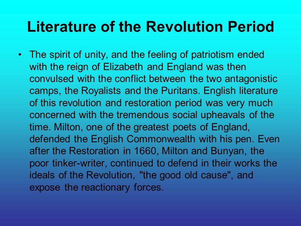 Literature of the Revolution Period