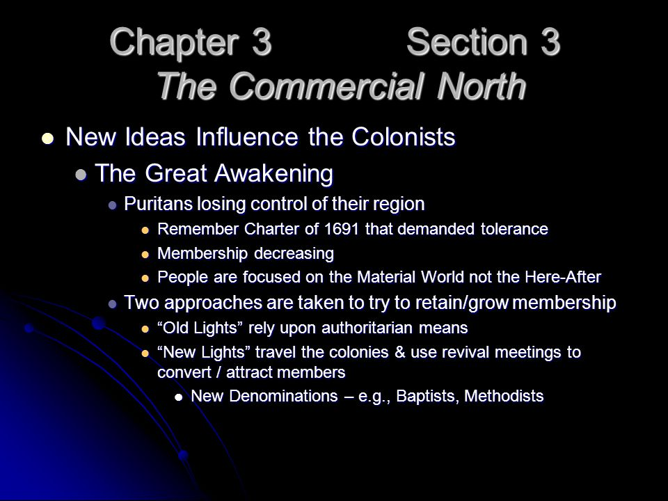 Chapter 3 Section 3 The Commercial North
