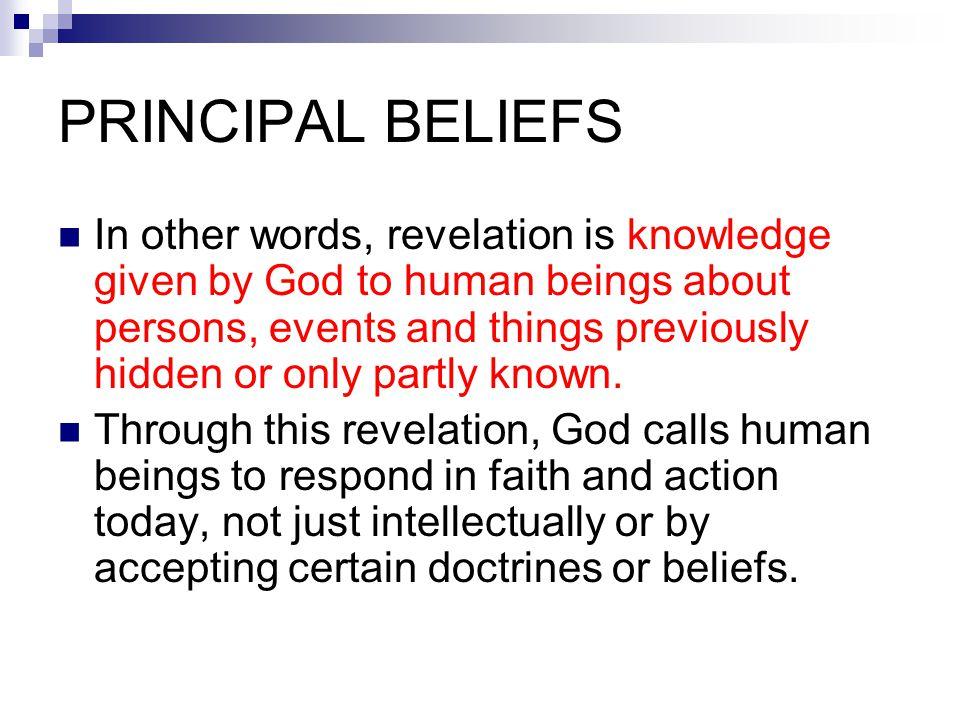 PRINCIPAL BELIEFS