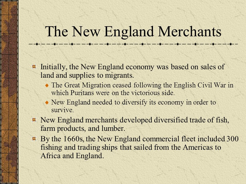The New England Merchants