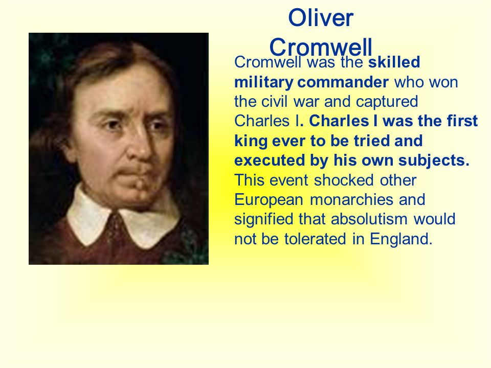 Who was Oliver Cromwell?