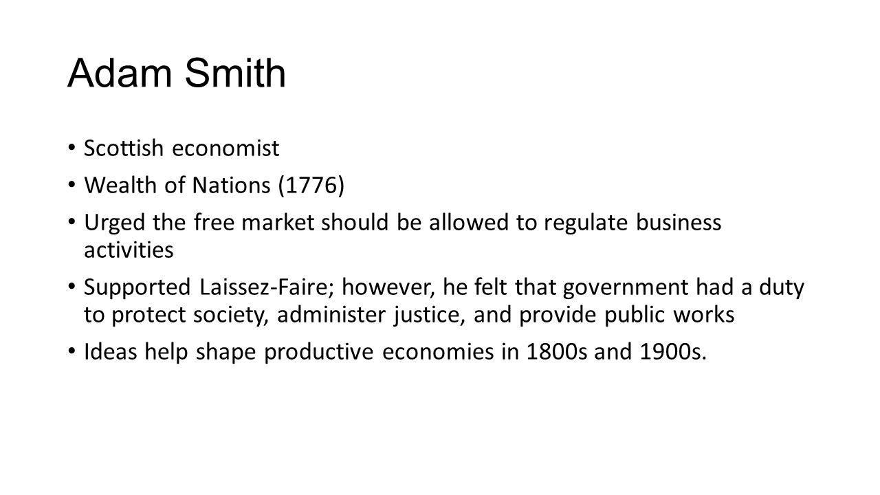 Adam Smith Scottish economist Wealth of Nations (1776)