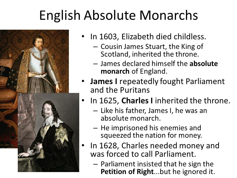 English Absolute Monarchs
