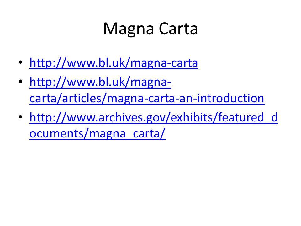 Magna Carta http://www.bl.uk/magna-carta