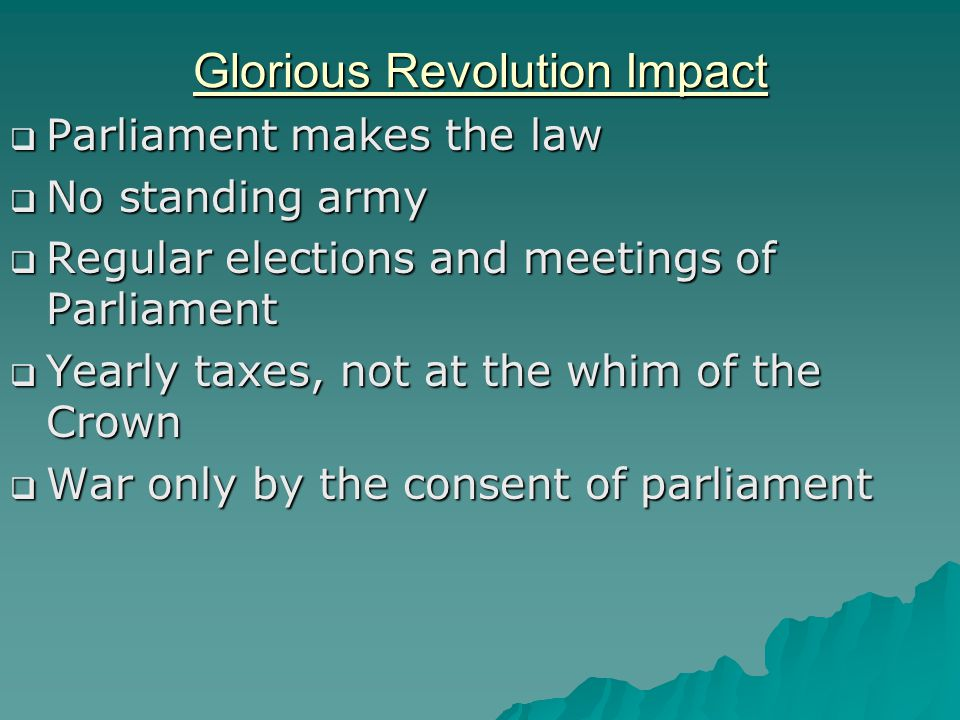 Glorious Revolution Impact