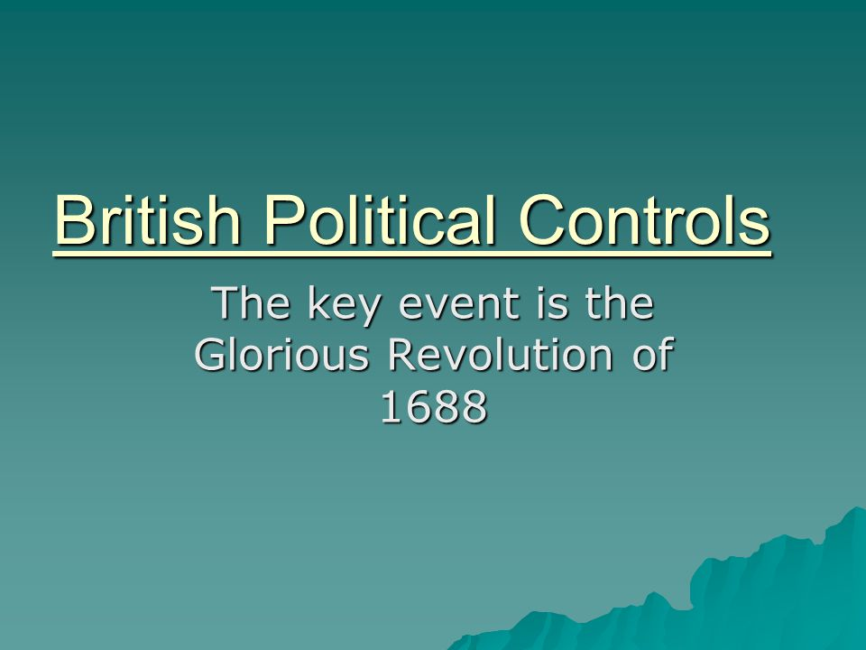 British Political Controls