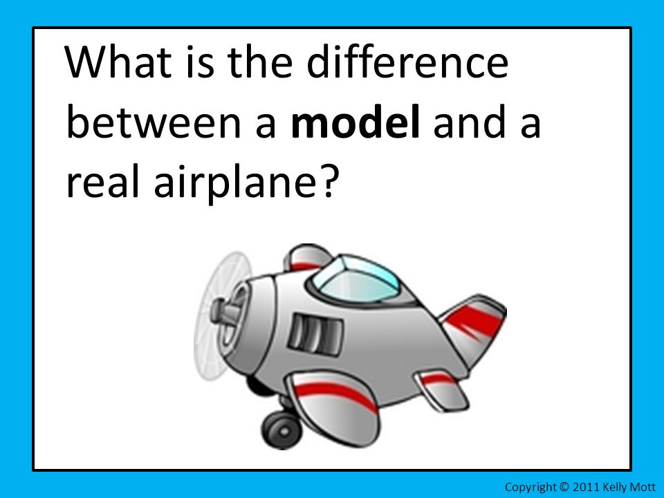 What is the difference between a model and a real airplane