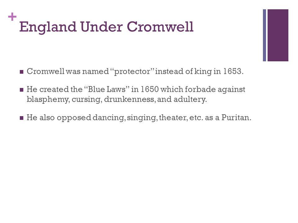 England Under Cromwell