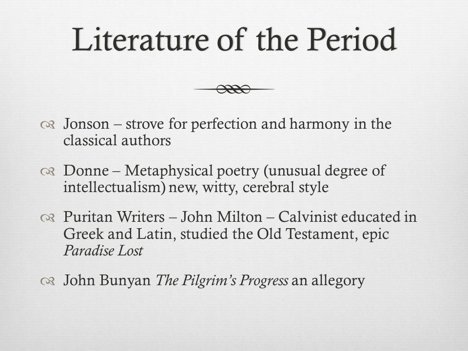Literature of the Period
