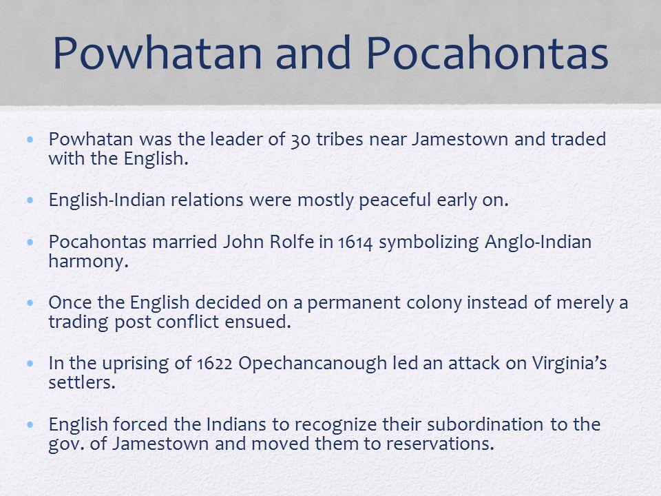 Powhatan and Pocahontas