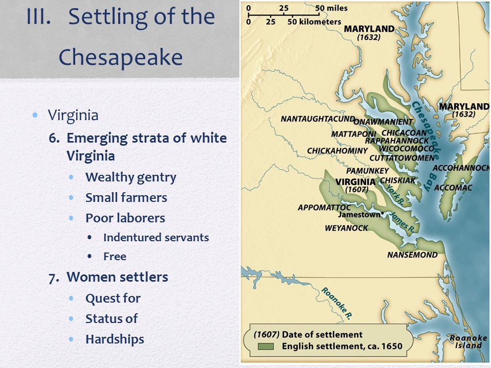 III. Settling of the Chesapeake