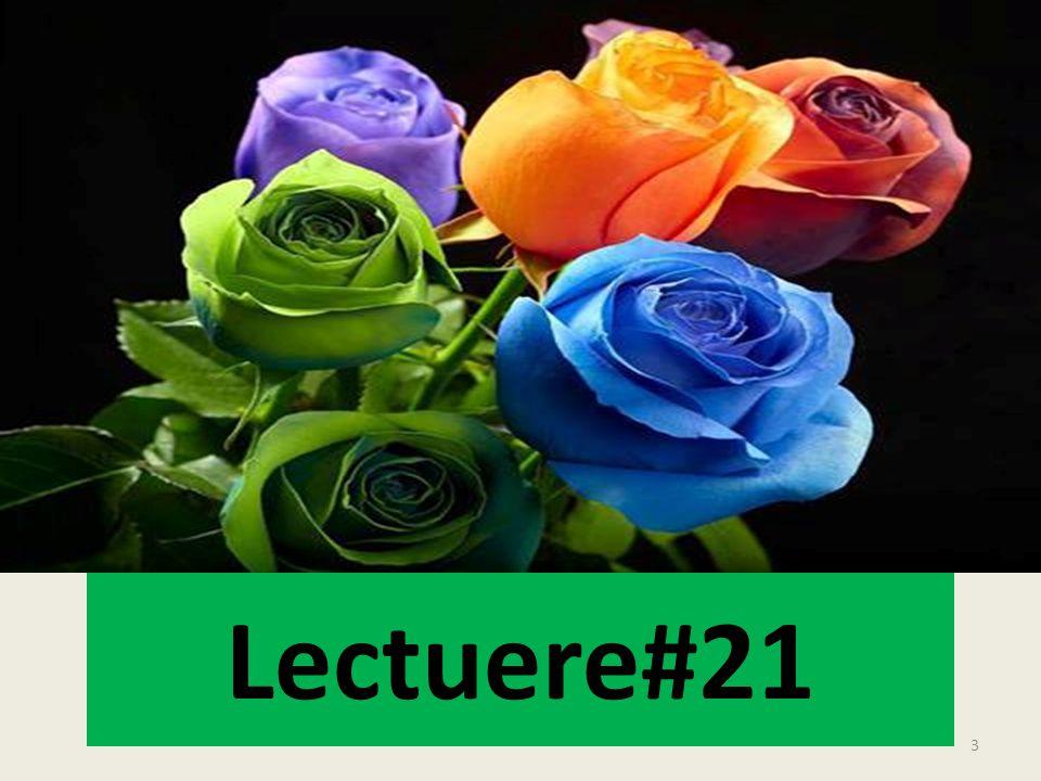 Lectuere#21