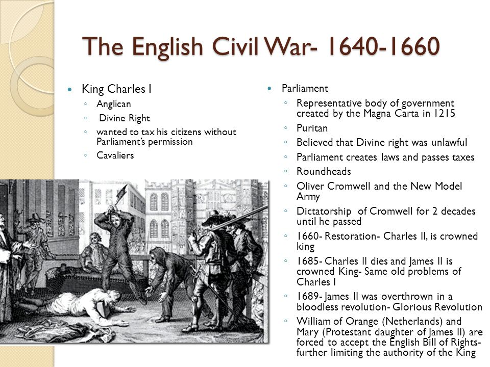 The English Civil War- 1640-1660