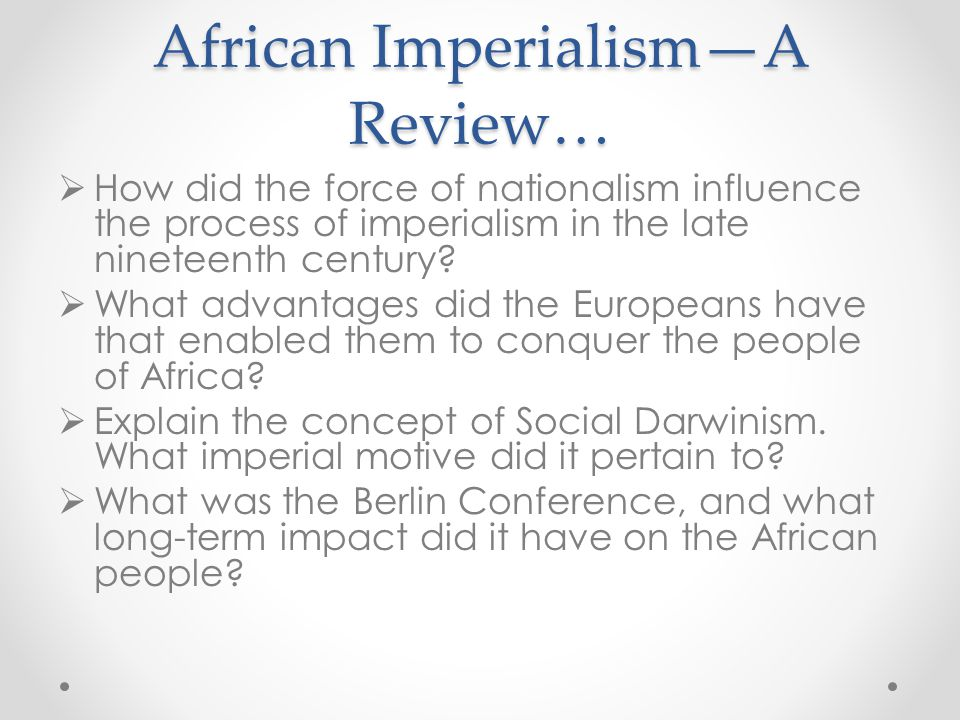 African Imperialism—A Review…