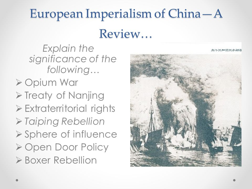 European Imperialism of China—A Review…