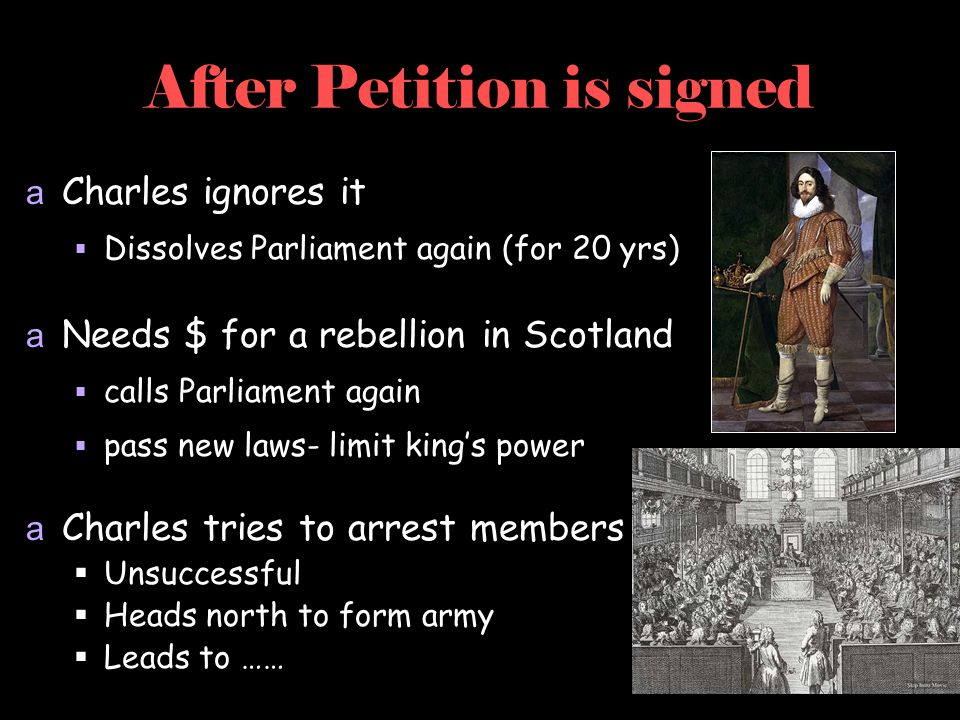 After Petition is signed