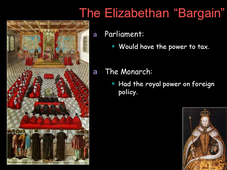 The Elizabethan Bargain