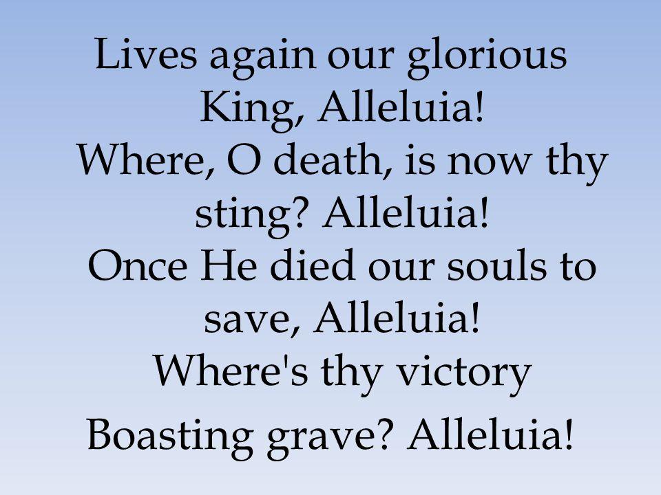 Boasting grave Alleluia!