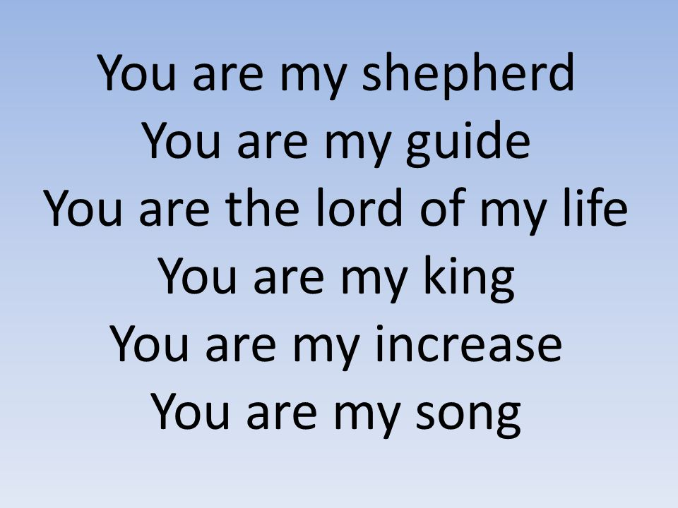 You are the lord of my life