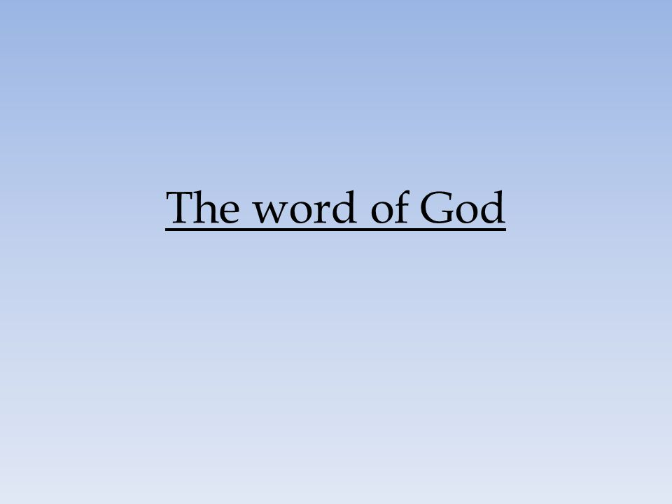 The word of God 81