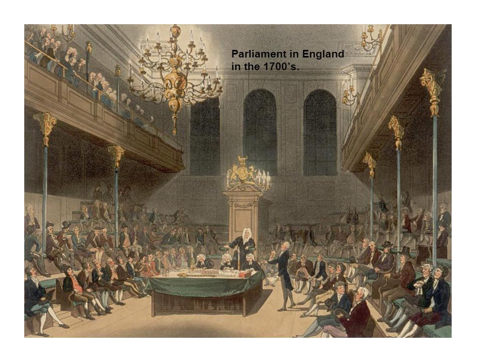 Parliament in England in the 1700's.