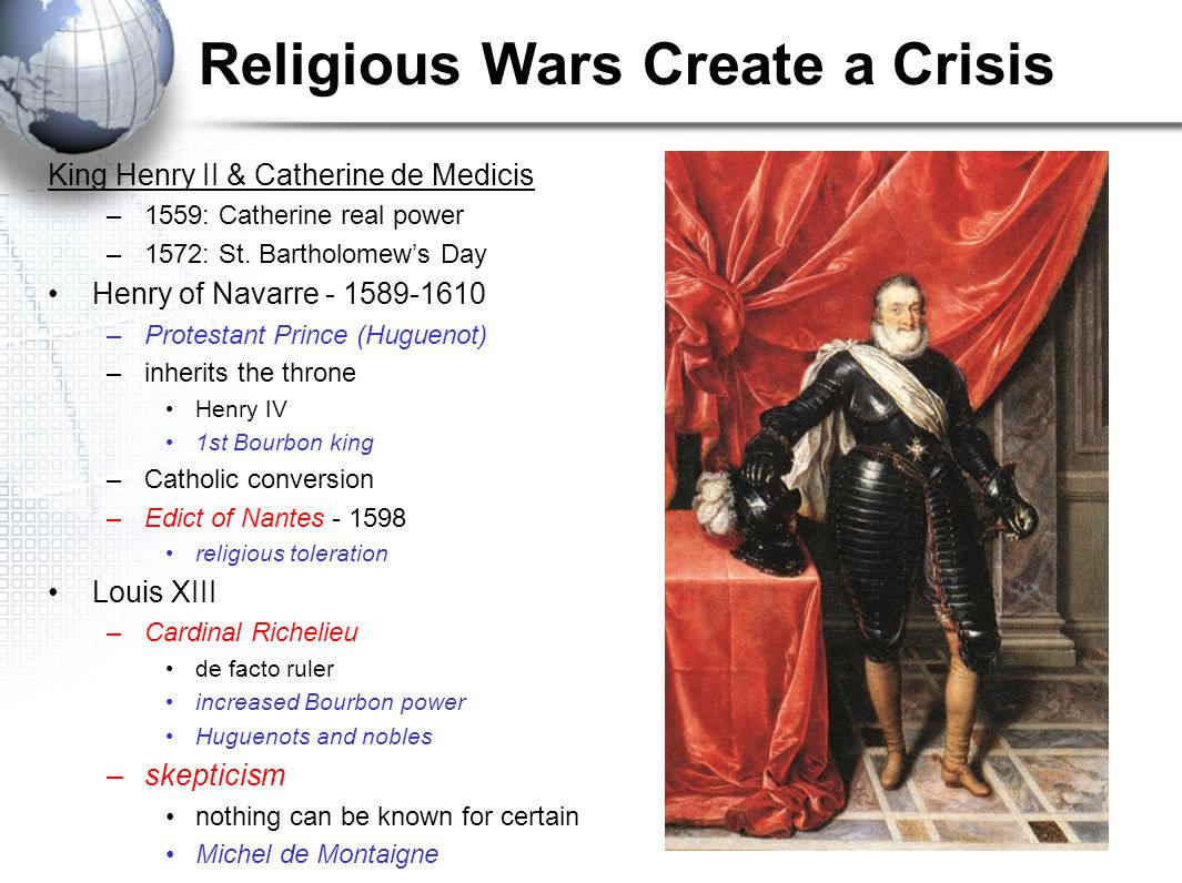 Religious Wars Create a Crisis