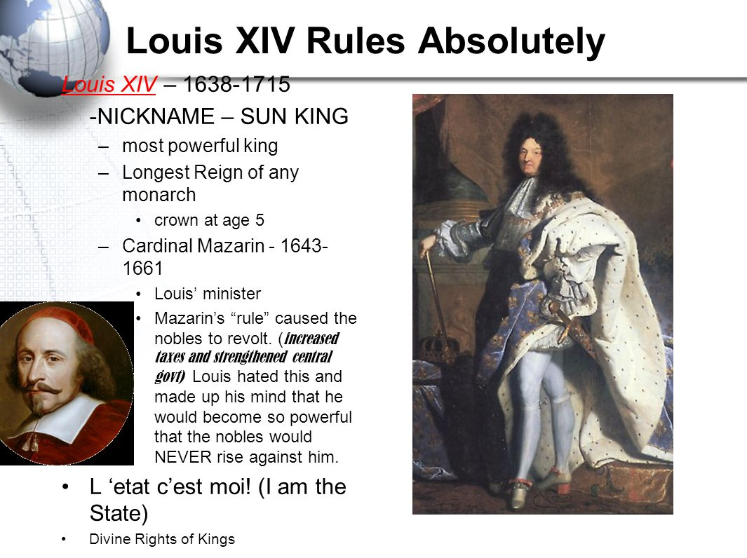 Louis XIV Rules Absolutely