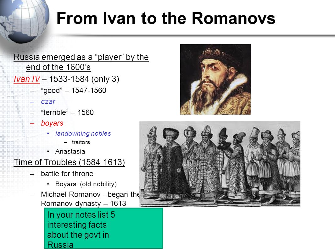 From Ivan to the Romanovs
