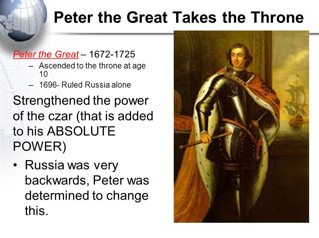 Peter the Great Takes the Throne