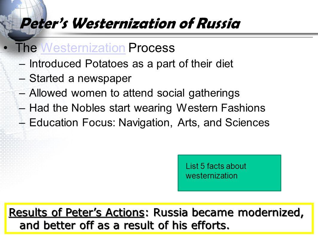 Peter's Westernization of Russia