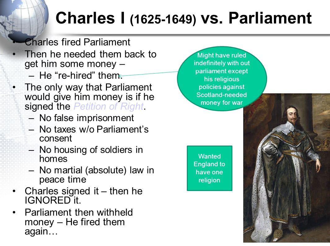 Charles I (1625-1649) vs. Parliament