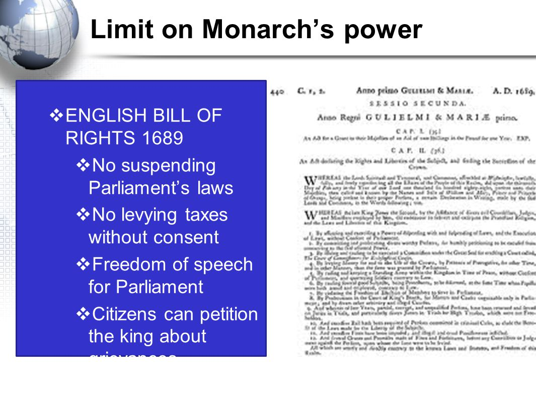 Limit on Monarch's power