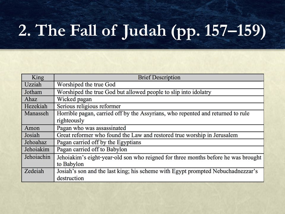 2. The Fall of Judah (pp. 157–159)