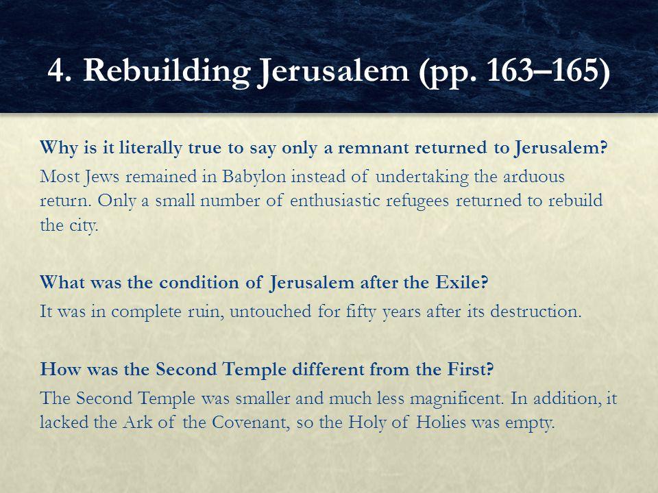 4. Rebuilding Jerusalem (pp. 163–165)
