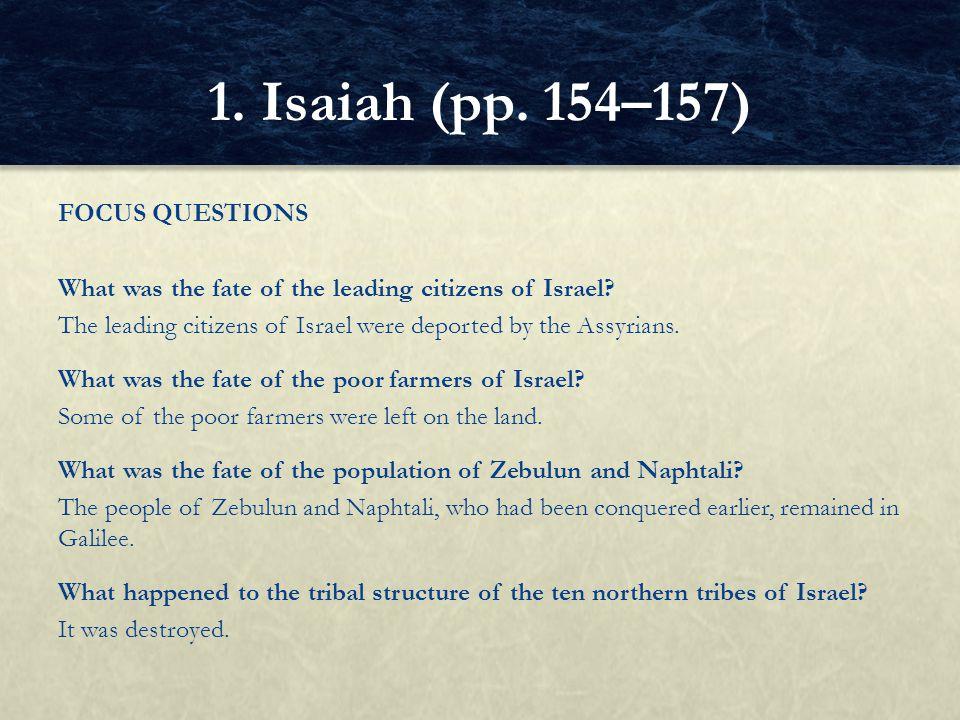 1. Isaiah (pp. 154–157)