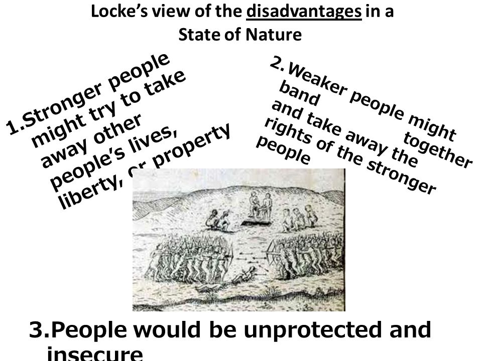 Locke's view of the disadvantages in a State of Nature