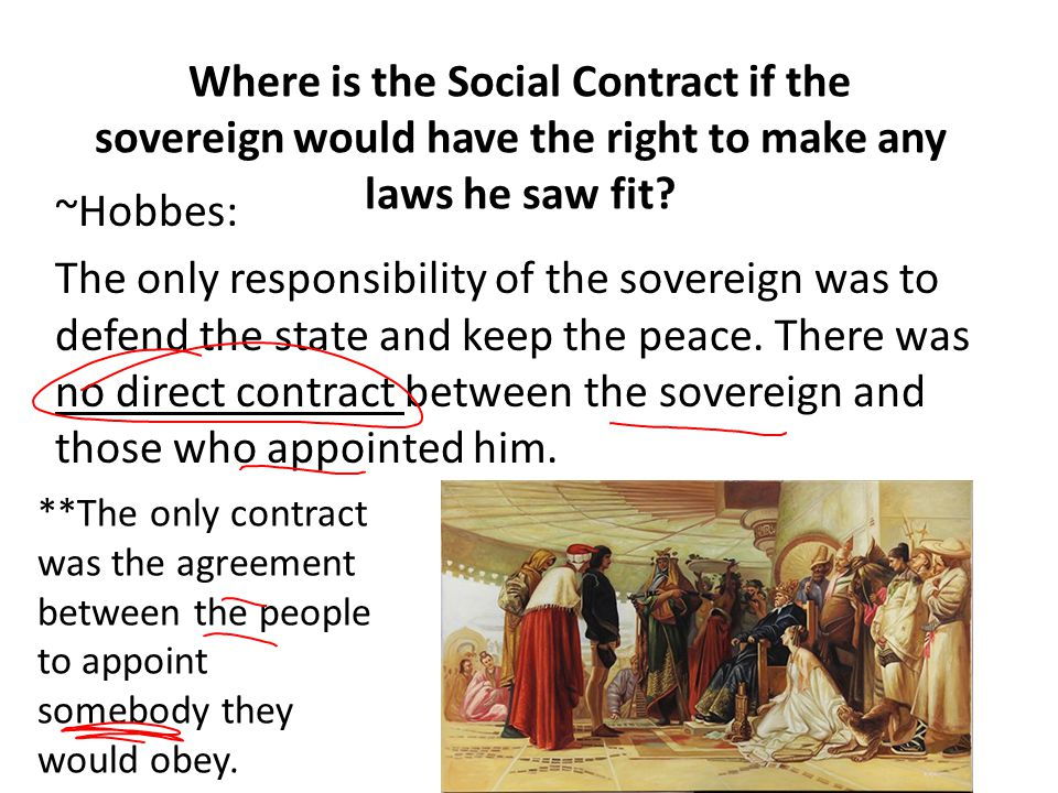Where is the Social Contract if the sovereign would have the right to make any laws he saw fit
