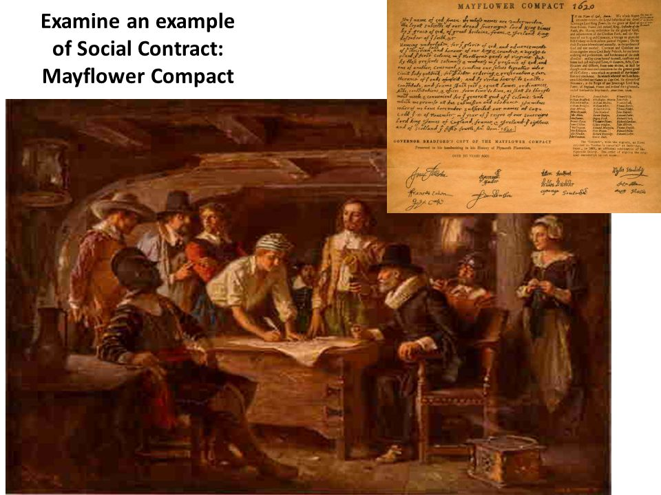 Examine an example of Social Contract: Mayflower Compact