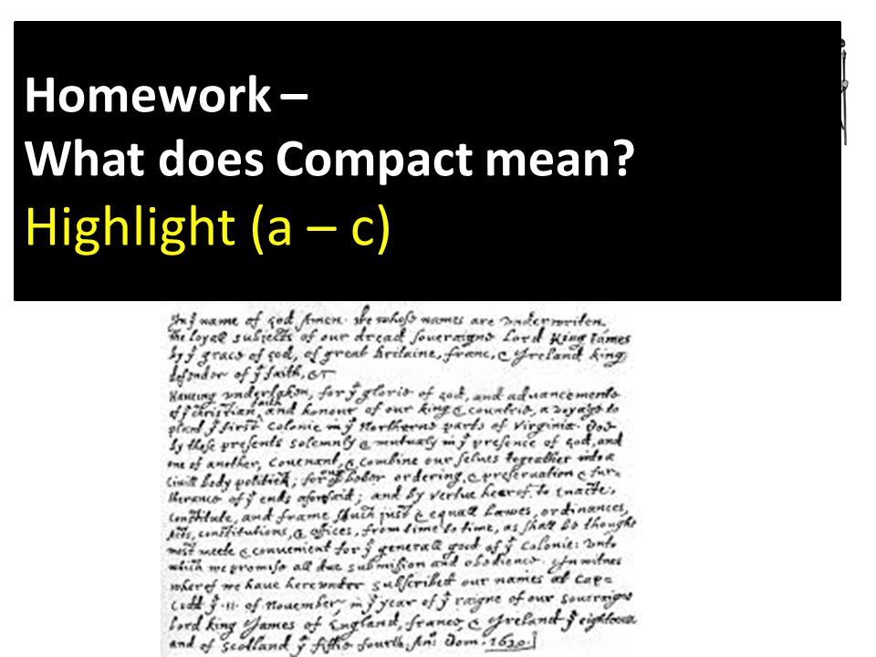 Homework – What does Compact mean Highlight (a – c)