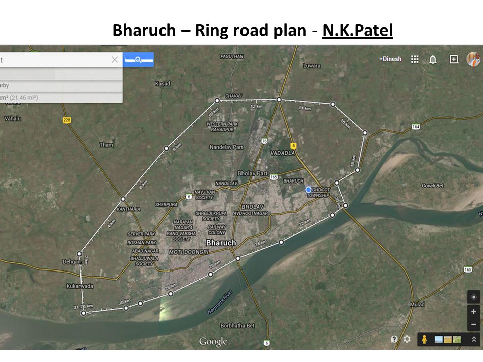 Bharuch – Ring road plan - N.K.Patel
