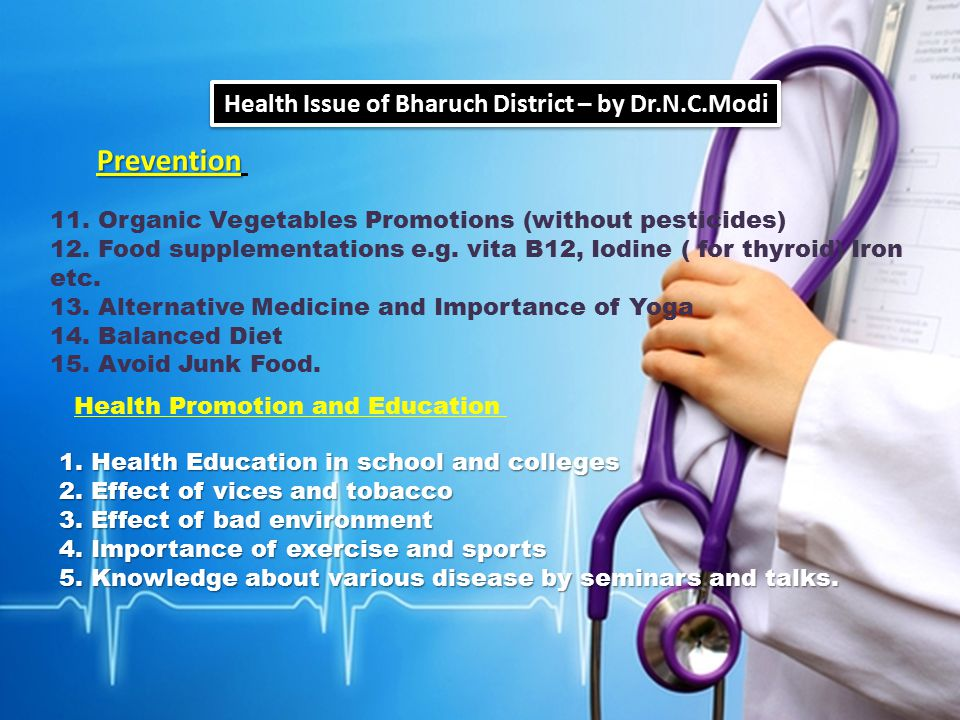 Health Issue of Bharuch District – by Dr.N.C.Modi
