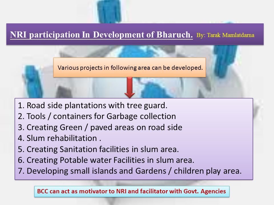 NRI participation In Development of Bharuch.