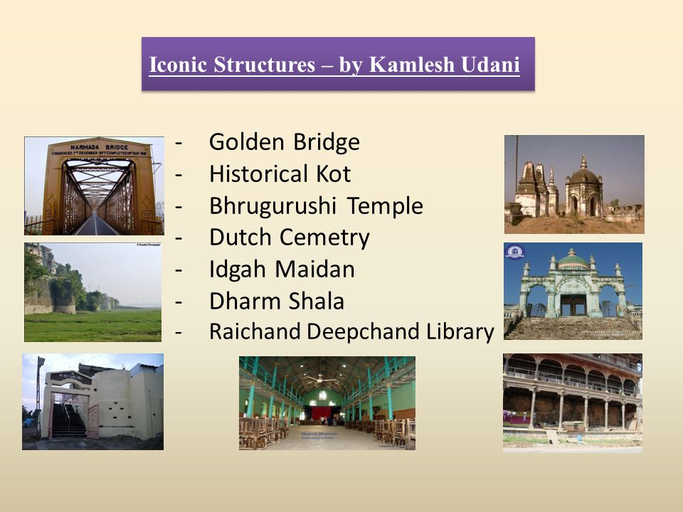 Golden Bridge Historical Kot Bhrugurushi Temple Dutch Cemetry