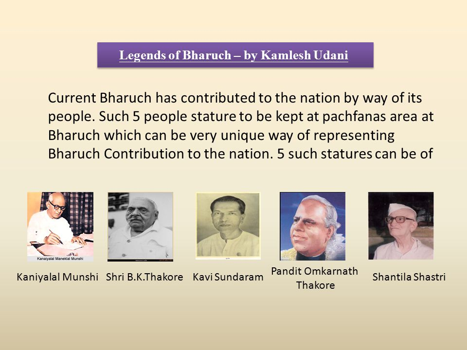 Legends of Bharuch – by Kamlesh Udani