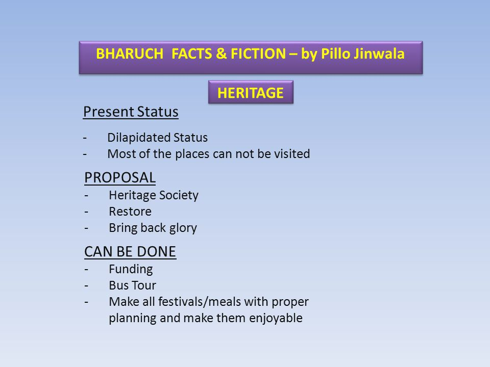 BHARUCH FACTS & FICTION – by Pillo Jinwala