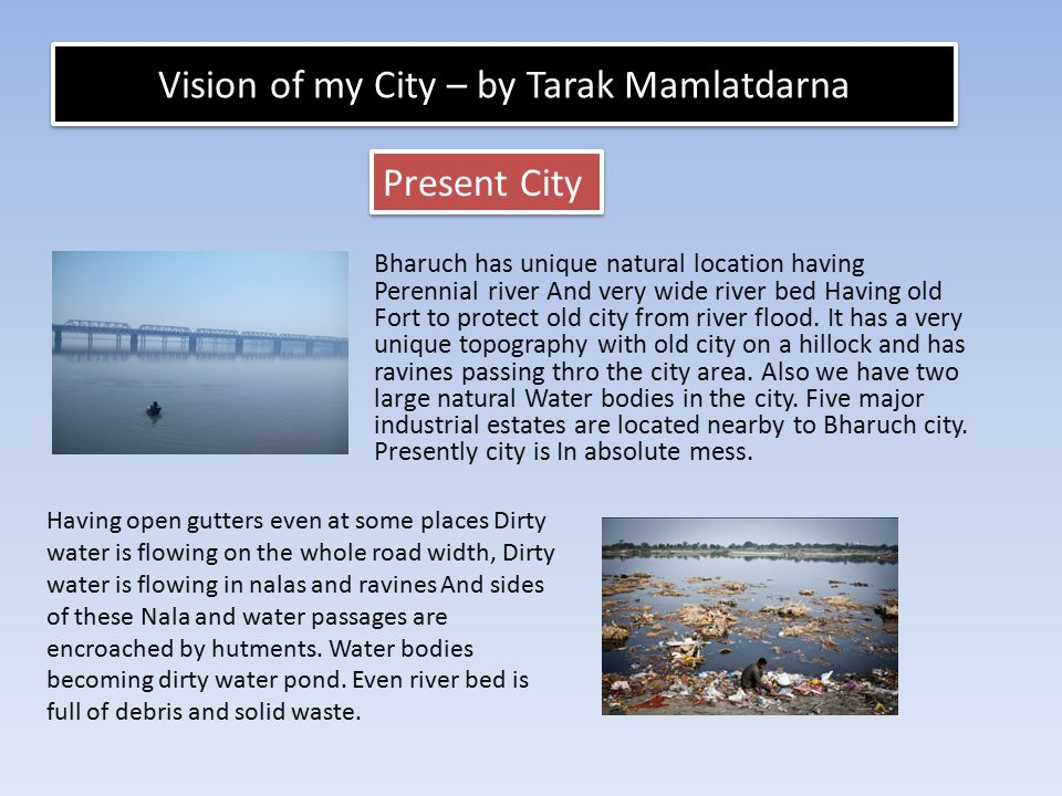 Vision of my City – by Tarak Mamlatdarna