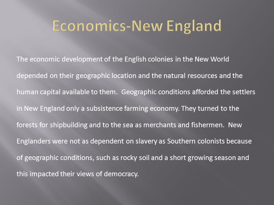 Economics-New England